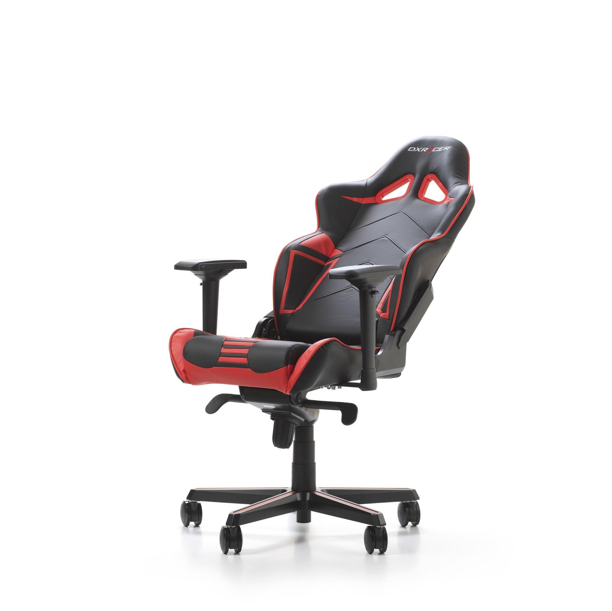 Гейминг стол DXRacer OH/RV131/NR - серия RACING V2, черен/червен - 6