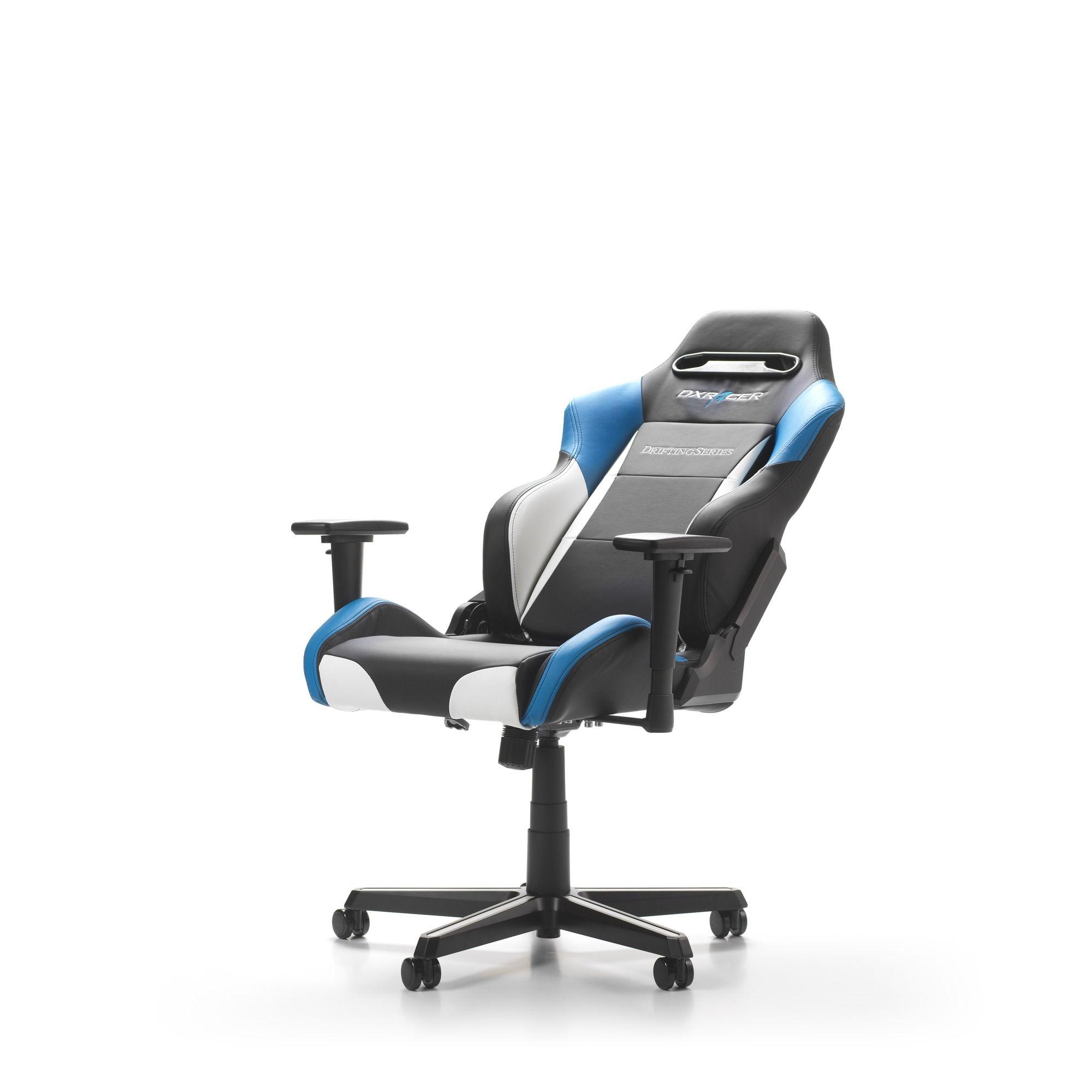 Геймърски стол DXRacer - серия DRIFTING, черен/бял/син - OH/DM61/NWB - 6