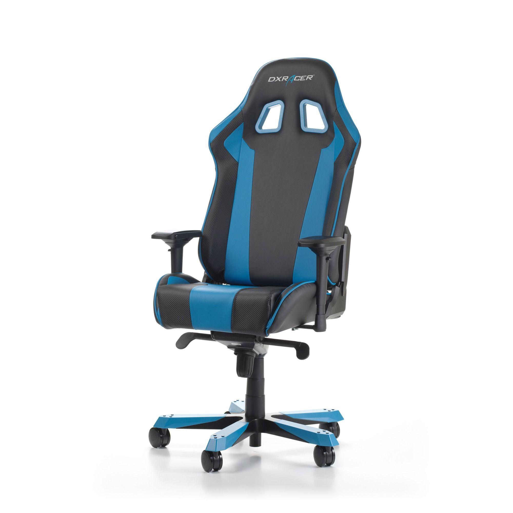 Геймърски стол DXRacer - серия KING, черен/син - OH/KS06/NB - 10
