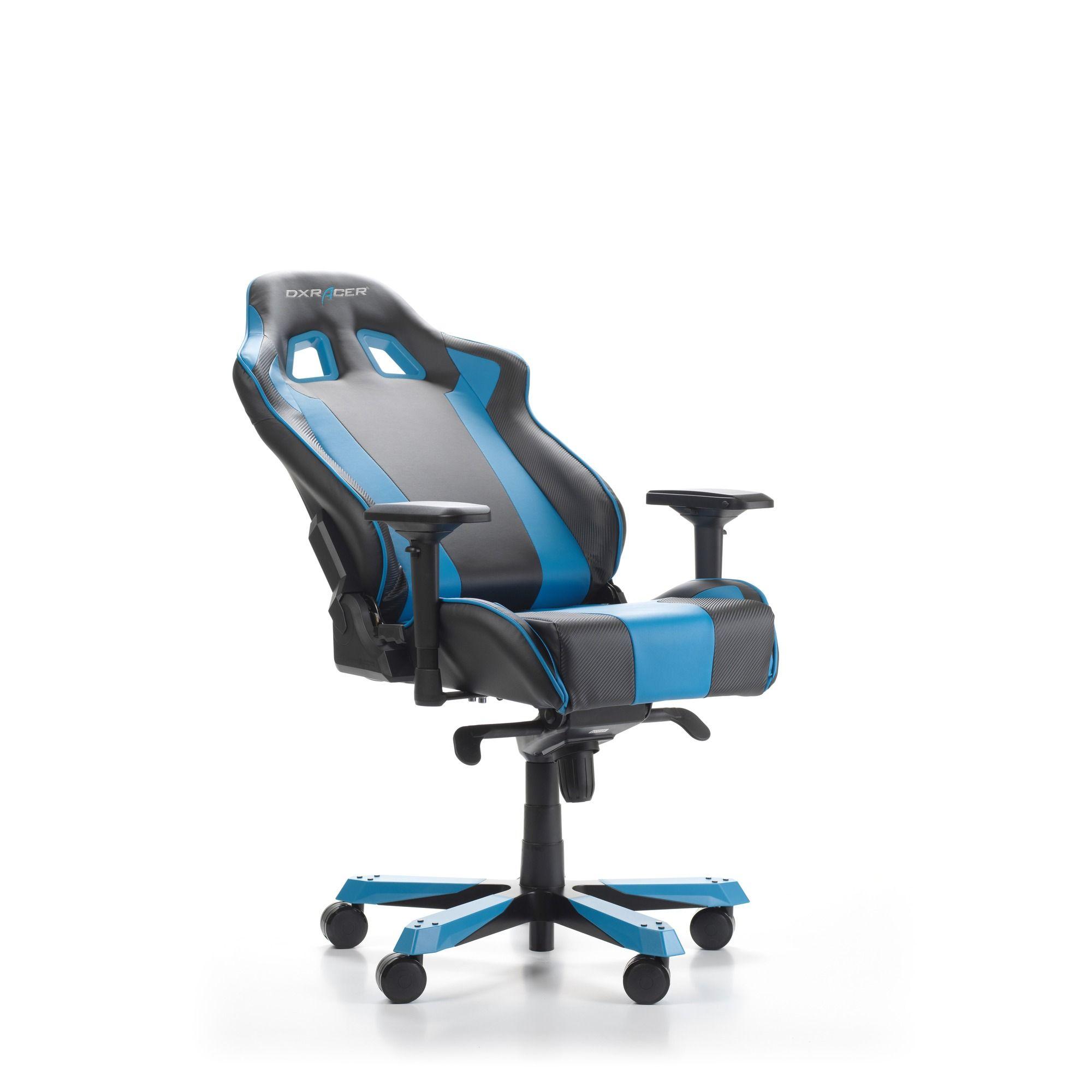 Геймърски стол DXRacer - серия KING, черен/син - OH/KS06/NB - 5