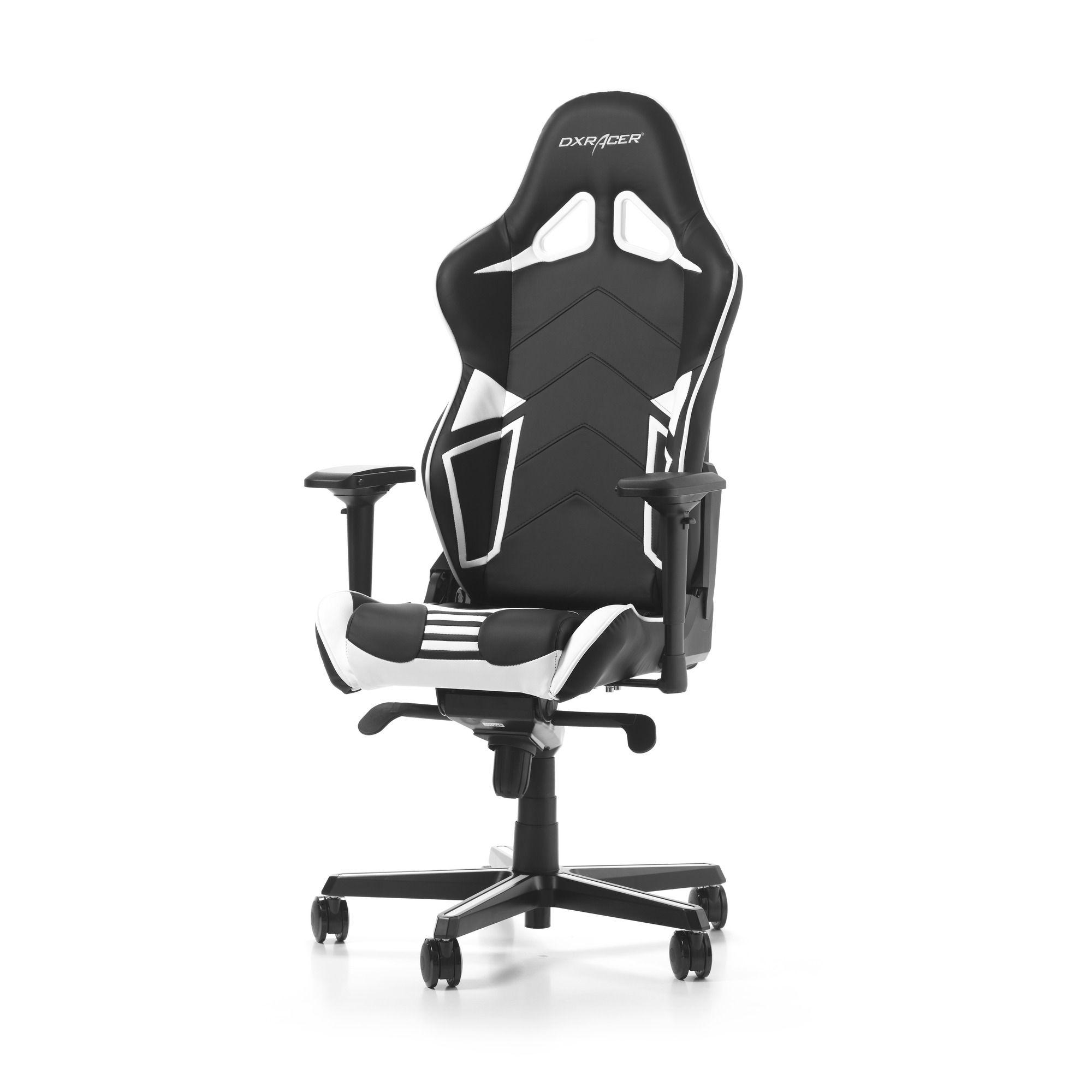 Гейминг стол DXRacer OH/RV131/NW - серия RACING V2, черен/бял - 7