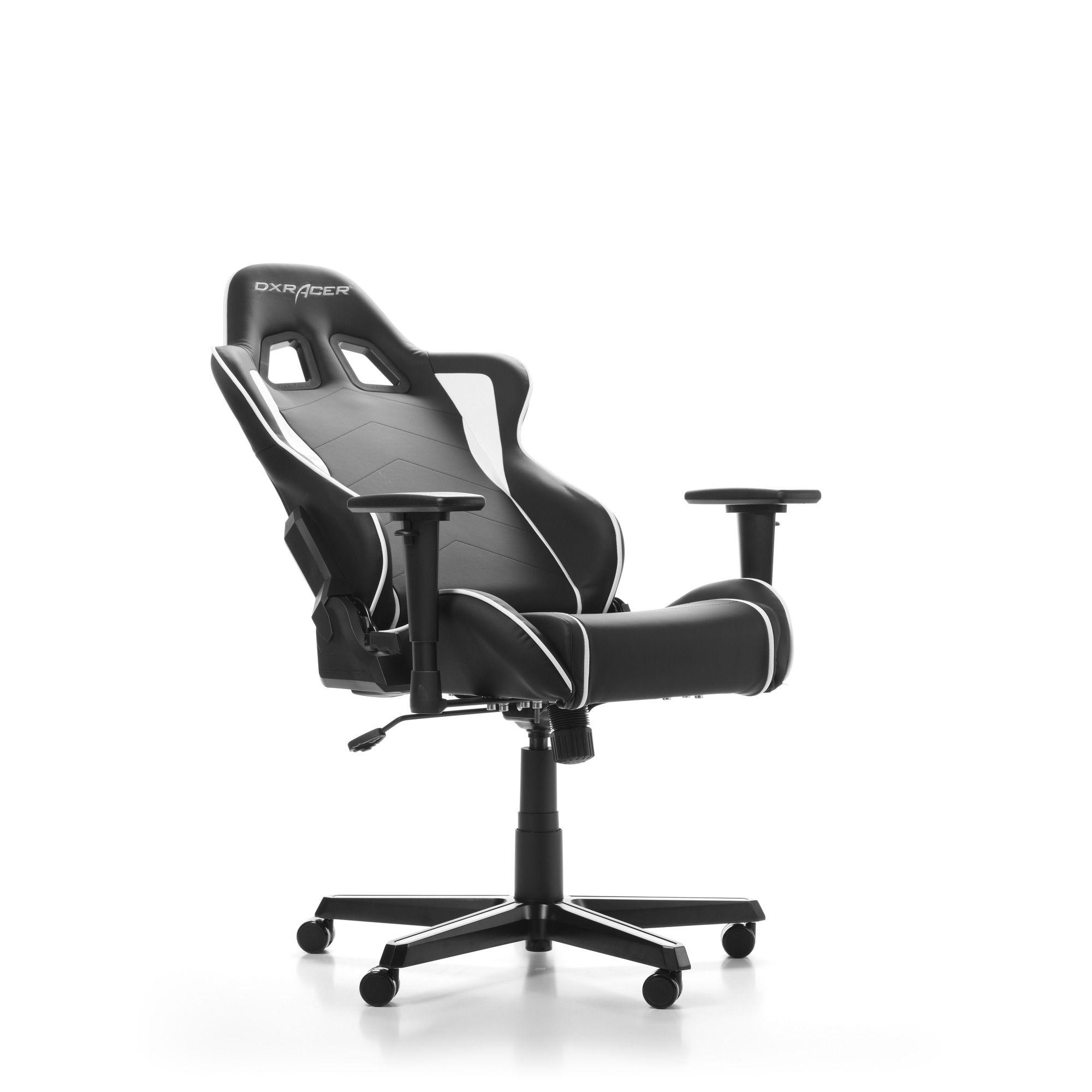 Гейминг стол DXRacer OH/FH08/NW - серия FORMULA, черен/бял - 6