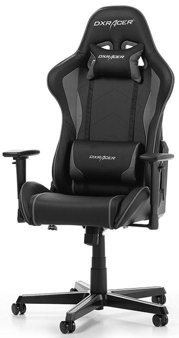 Геймърски стол DXRacer - серия FORMULA, черен/сив - OH/FH08/NG - 1