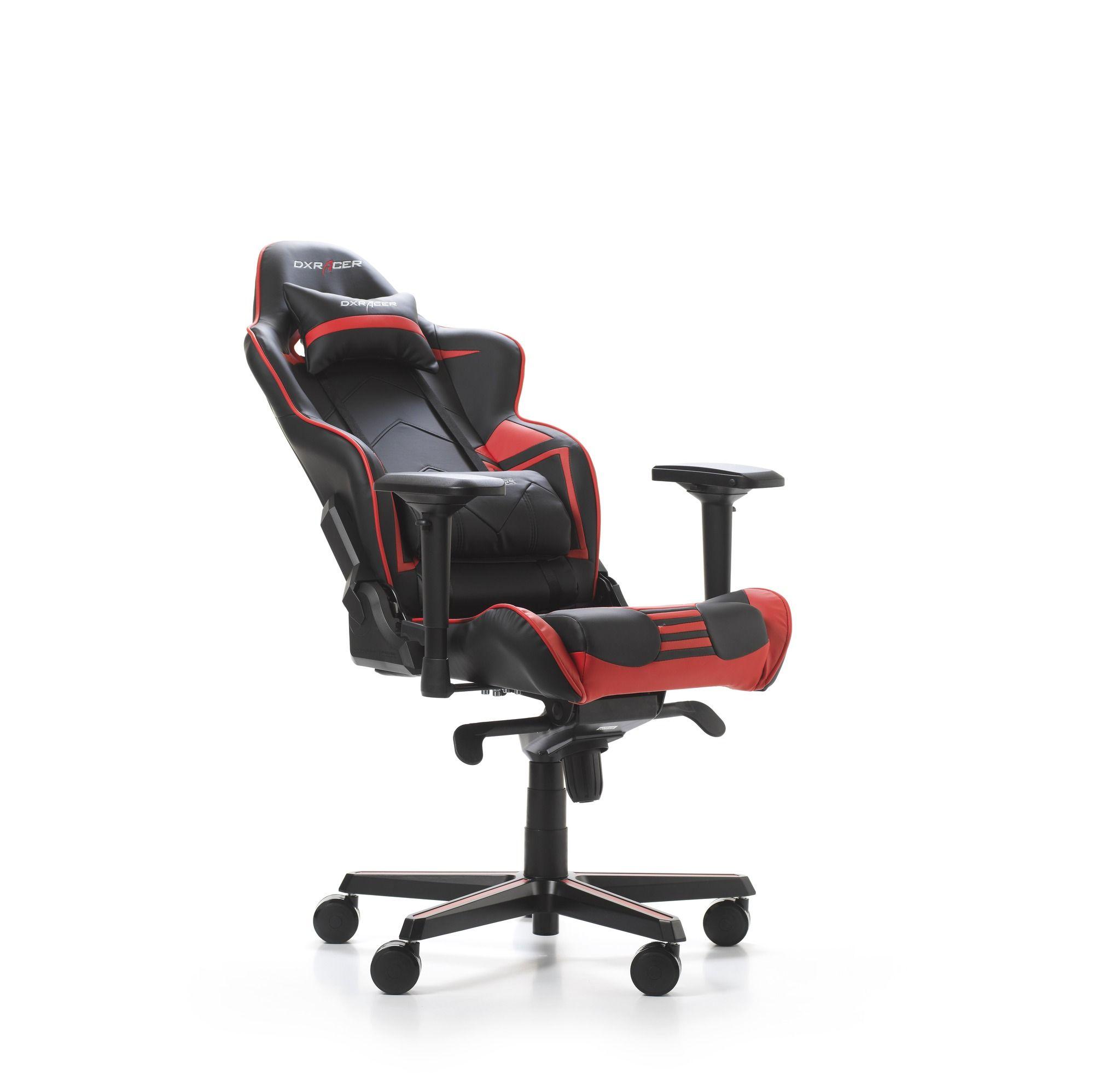 Гейминг стол DXRacer OH/RV131/NR - серия RACING V2, черен/червен - 3