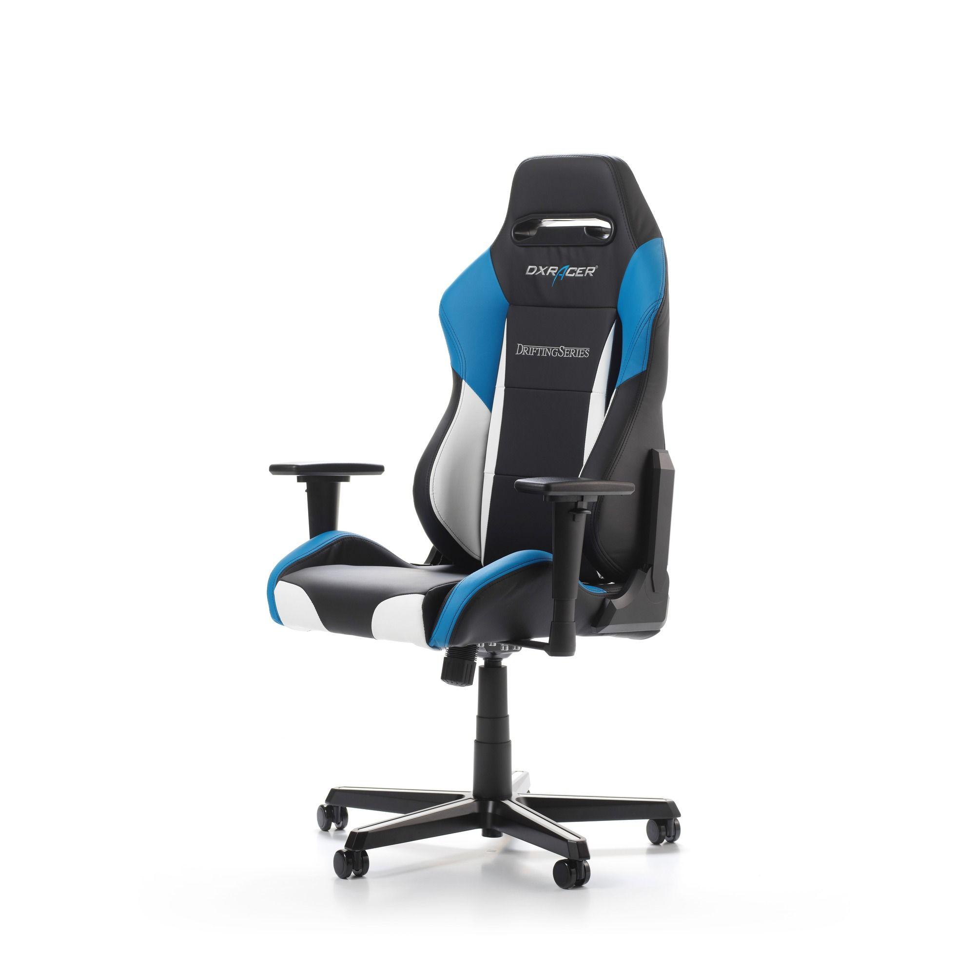 Геймърски стол DXRacer - серия DRIFTING, черен/бял/син - OH/DM61/NWB - 11