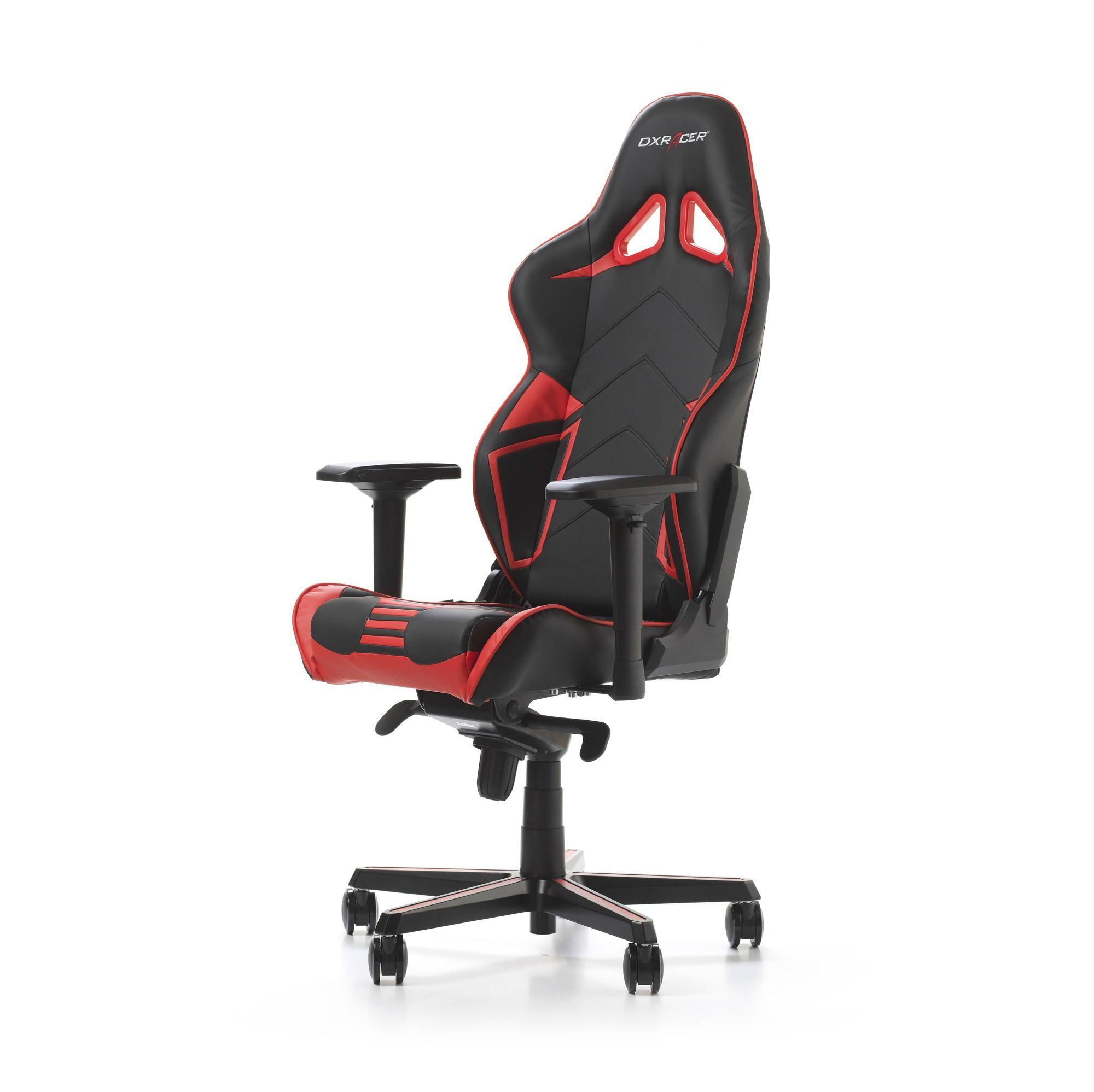 Гейминг стол DXRacer OH/RV131/NR - серия RACING V2, черен/червен - 11