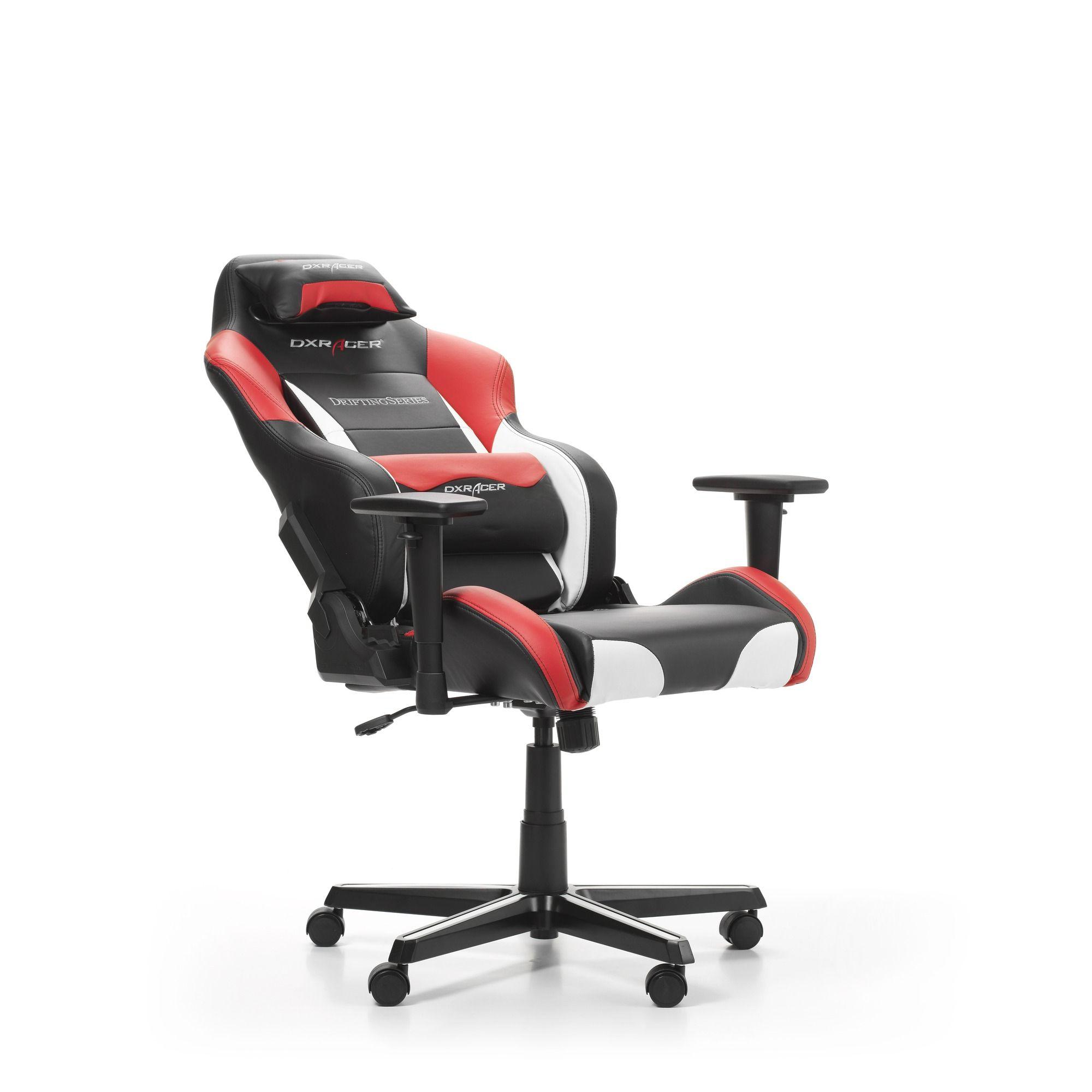 Геймърски стол DXRacer - серия DRIFTING, черен/бял/червен - OH/DM61/NWR - 3