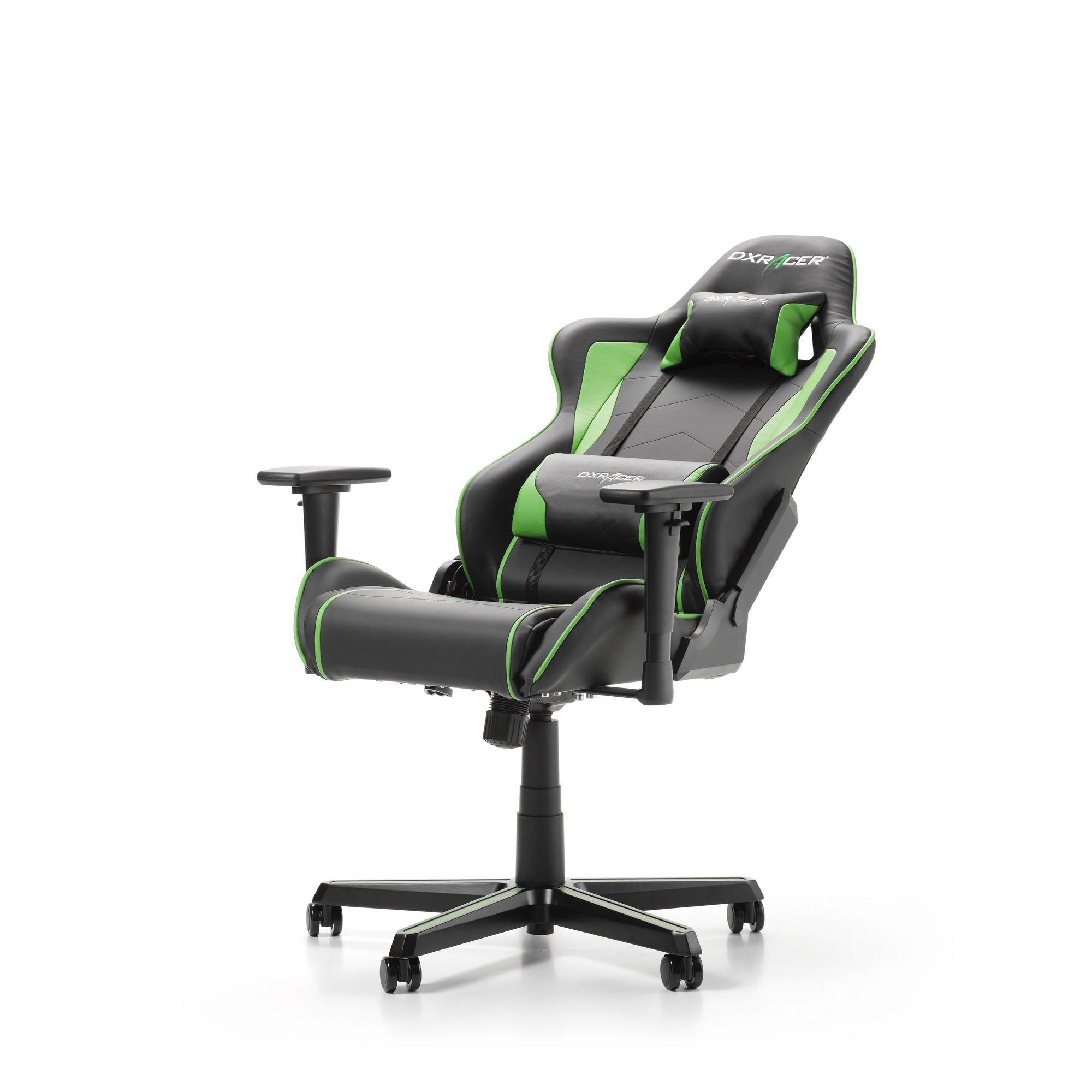 Геймърски стол DXRacer - серия FORMULA, черен/зелен - OH/FH08/NE - 4