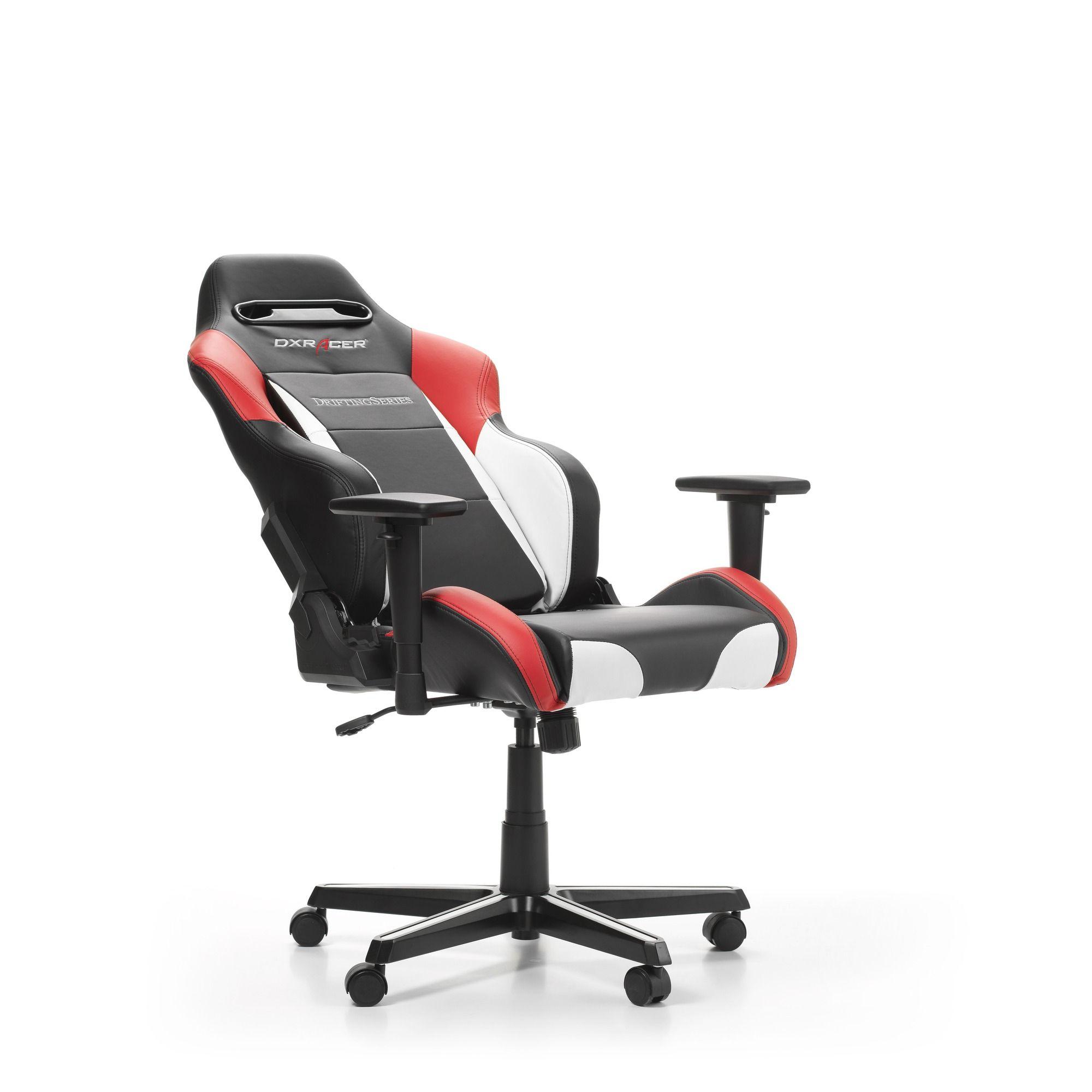 Геймърски стол DXRacer - серия DRIFTING, черен/бял/червен - OH/DM61/NWR - 5