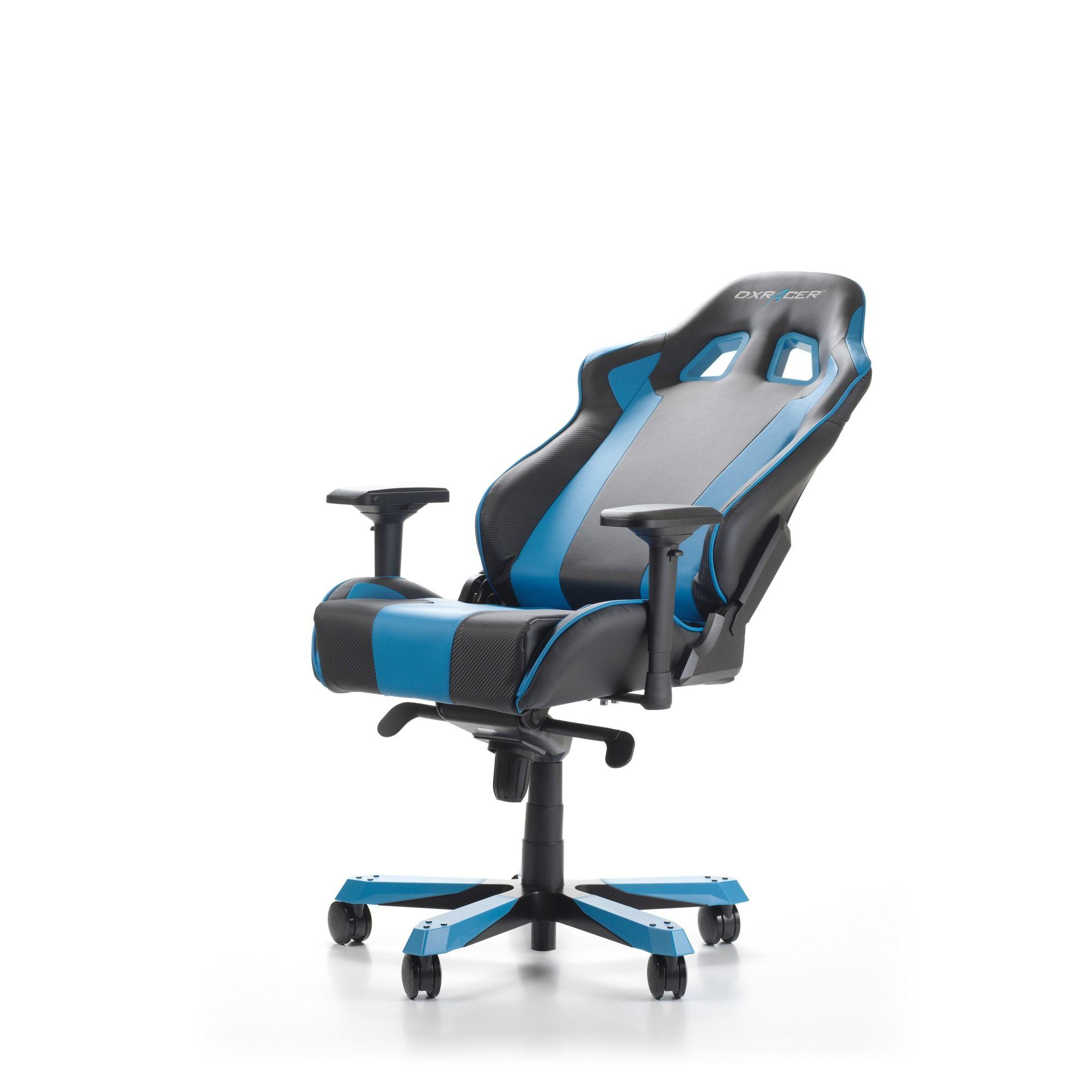Геймърски стол DXRacer - серия KING, черен/син - OH/KS06/NB - 6