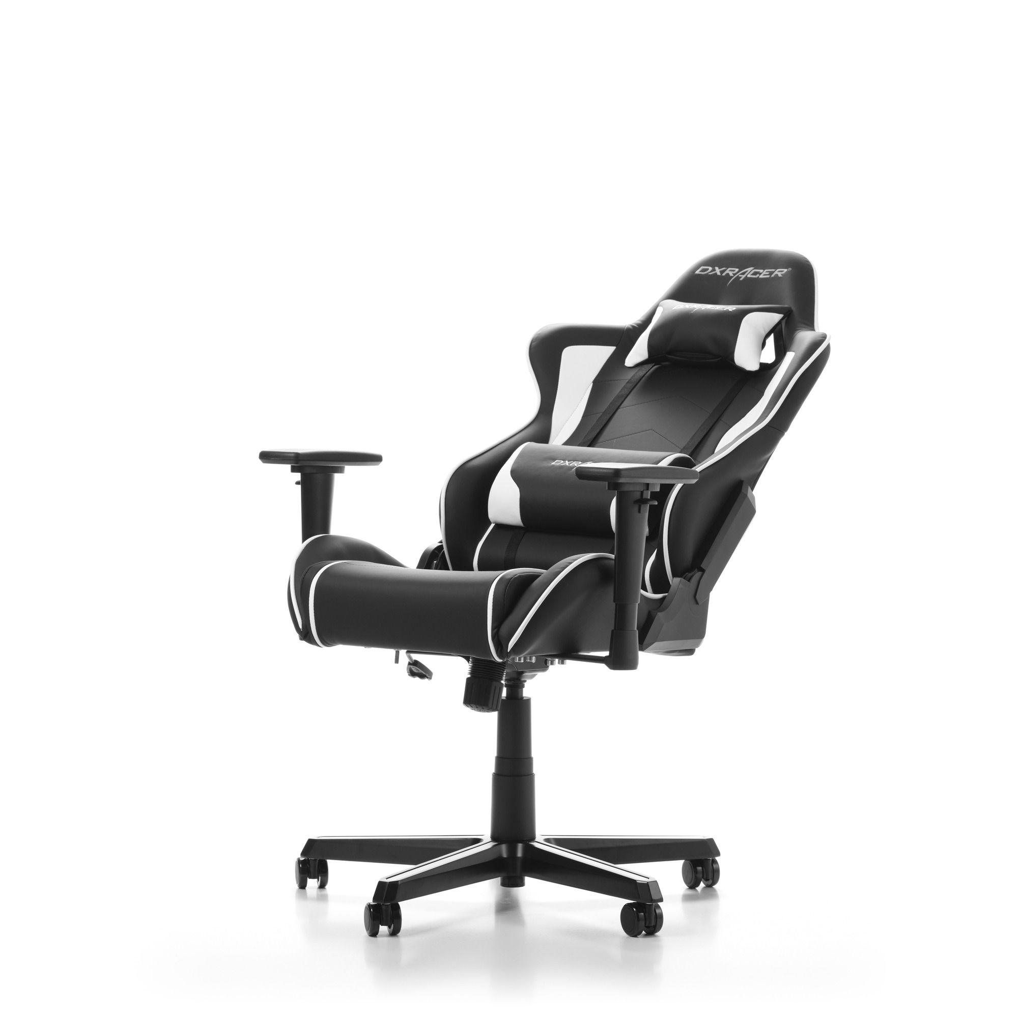 Гейминг стол DXRacer OH/FH08/NW - серия FORMULA, черен/бял - 2