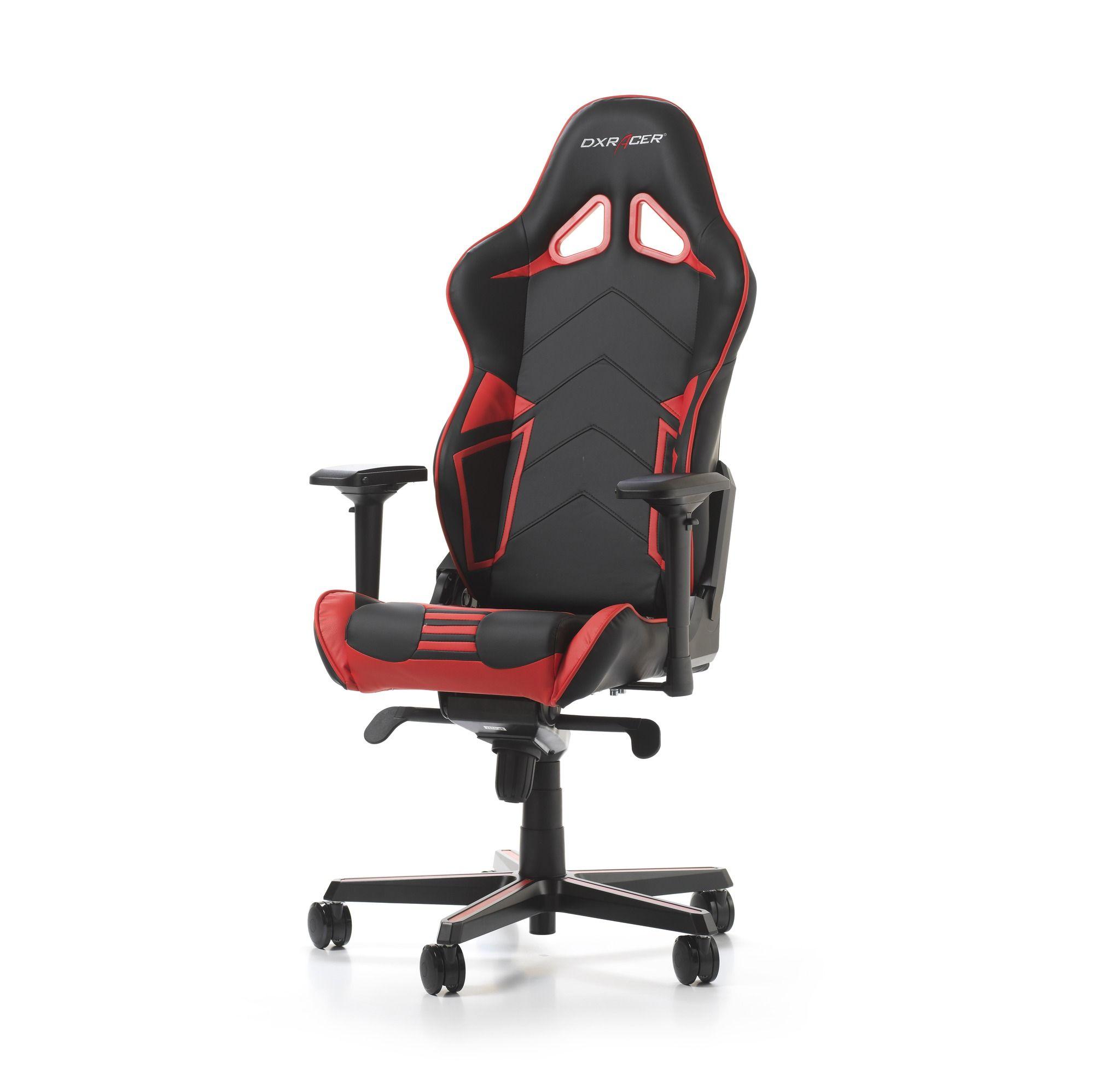 Гейминг стол DXRacer OH/RV131/NR - серия RACING V2, черен/червен - 10