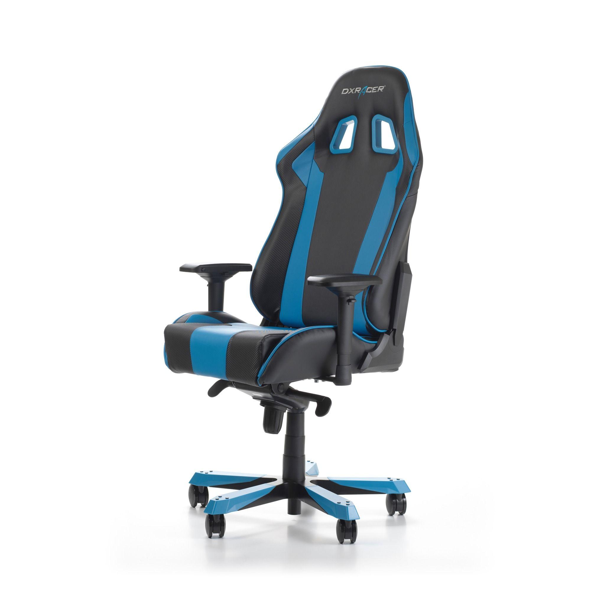 Геймърски стол DXRacer - серия KING, черен/син - OH/KS06/NB - 11
