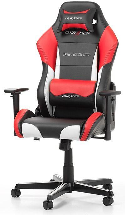 Геймърски стол DXRacer - серия DRIFTING, черен/бял/червен - OH/DM61/NWR - 1