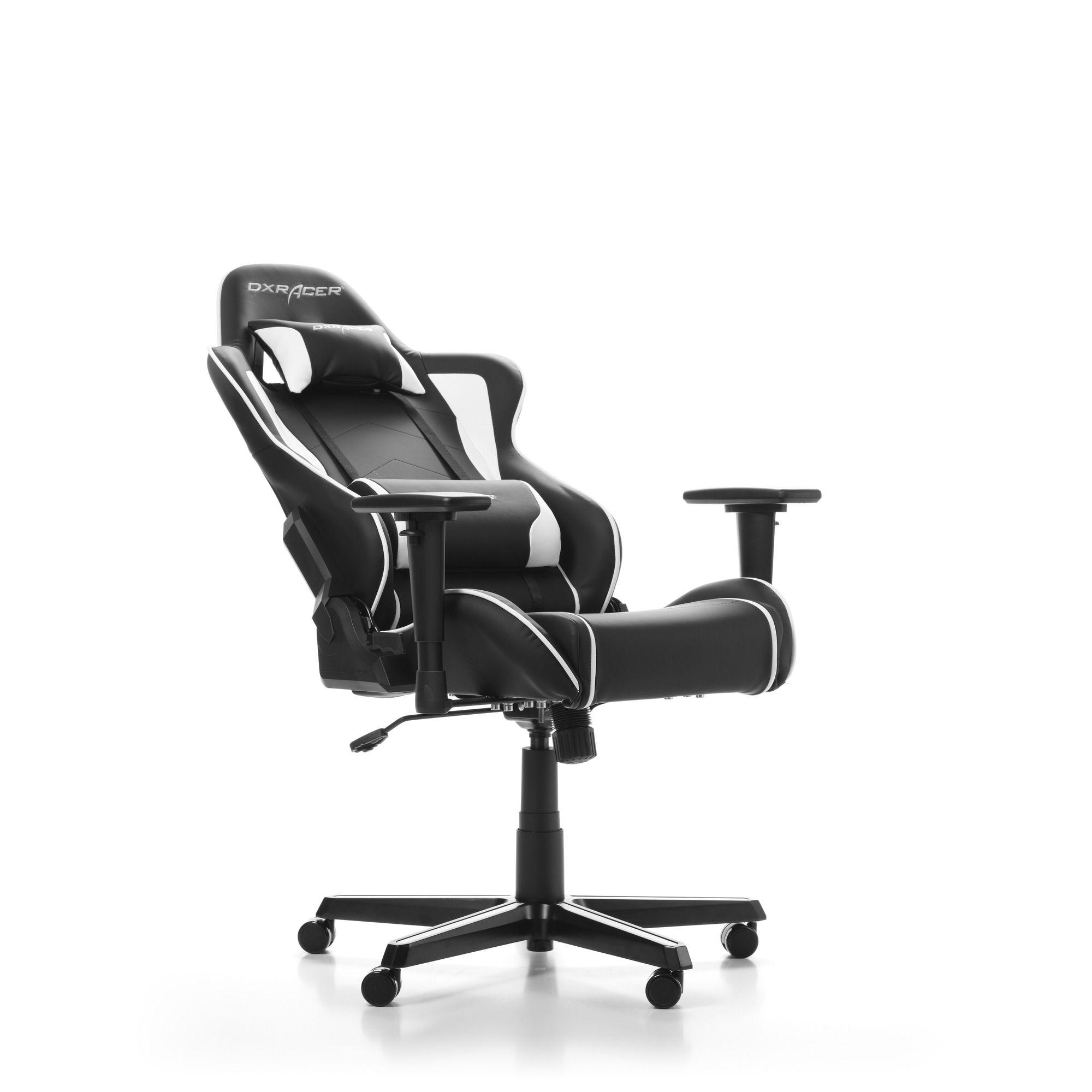 Гейминг стол DXRacer OH/FH08/NW - серия FORMULA, черен/бял - 4