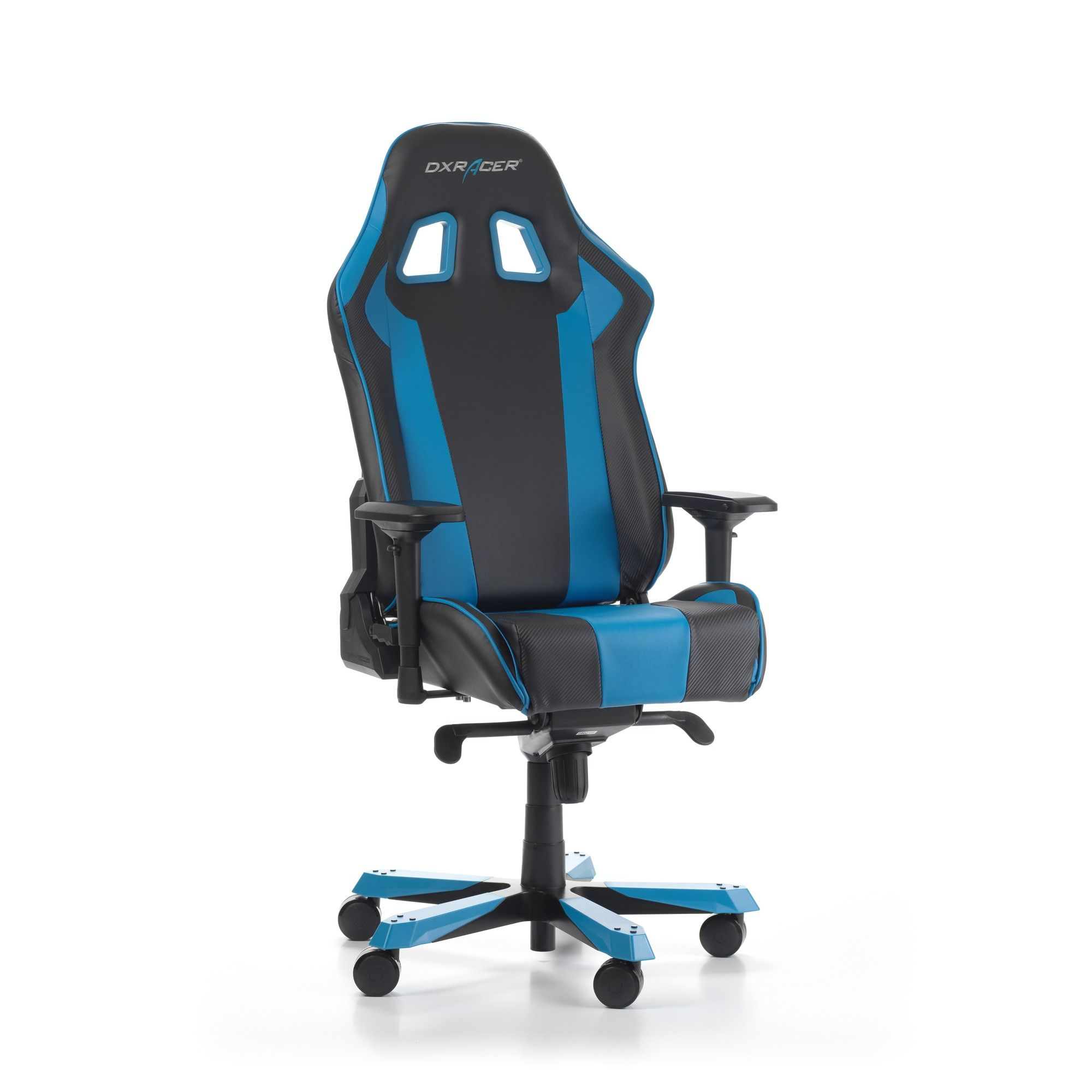 Геймърски стол DXRacer - серия KING, черен/син - OH/KS06/NB - 8
