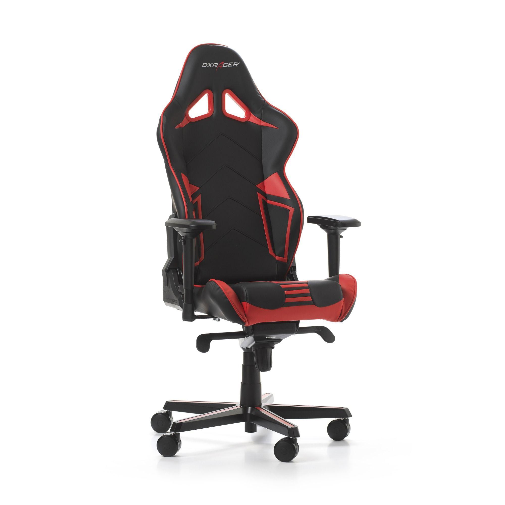 Гейминг стол DXRacer OH/RV131/NR - серия RACING V2, черен/червен - 8