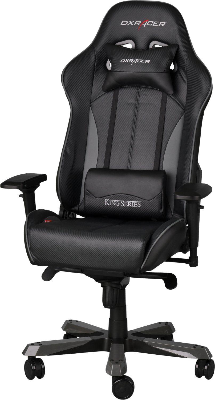 Геймърски стол DXRacer King - черен/сив (OH/KF57/NG) - 1