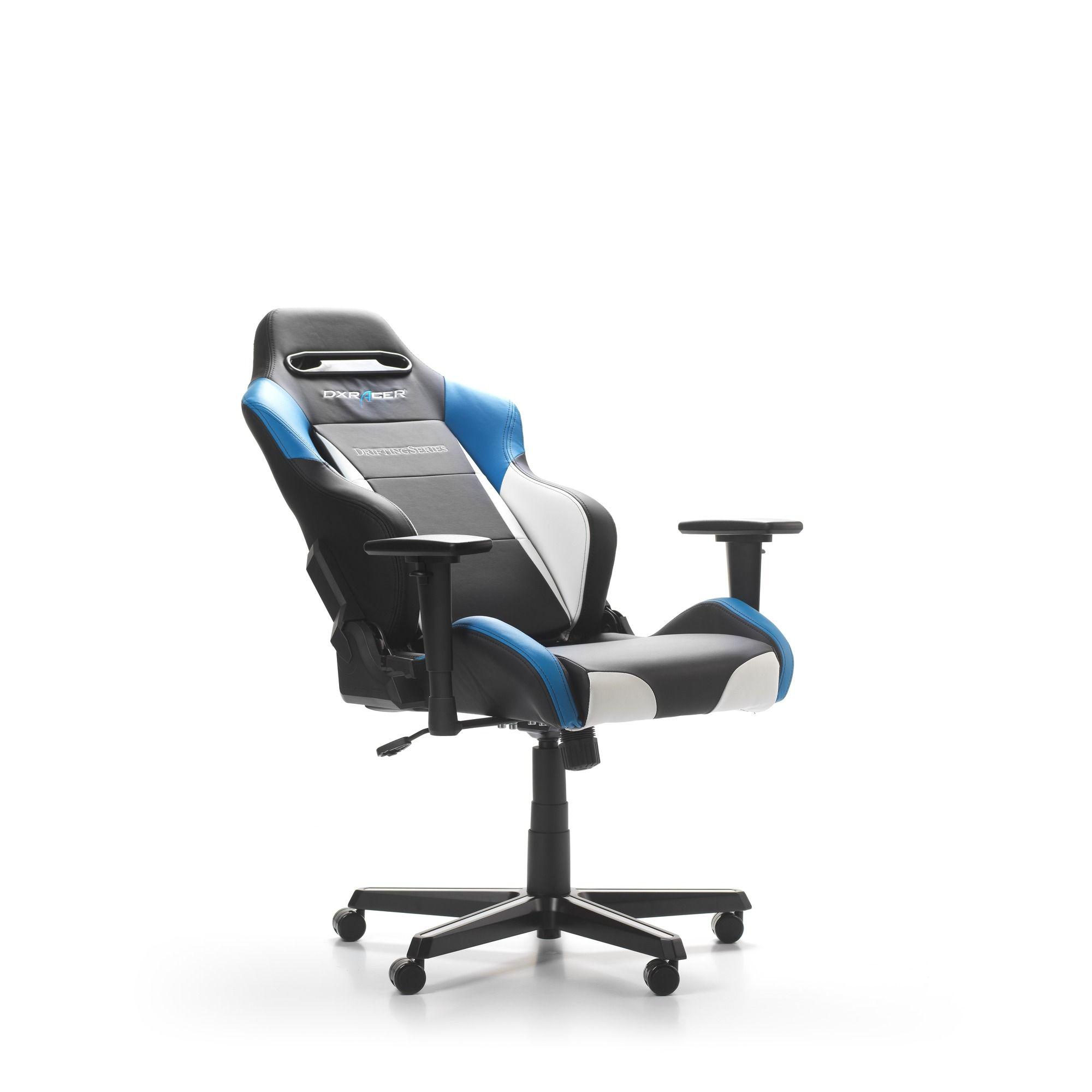 Геймърски стол DXRacer - серия DRIFTING, черен/бял/син - OH/DM61/NWB - 5