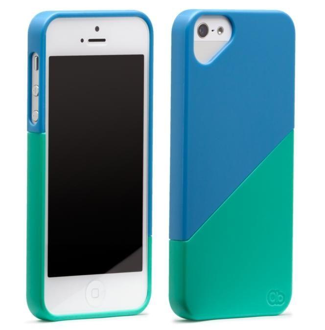 Olo Duet Snap On Case за iPhone 5 -  синьо и зелено - 3