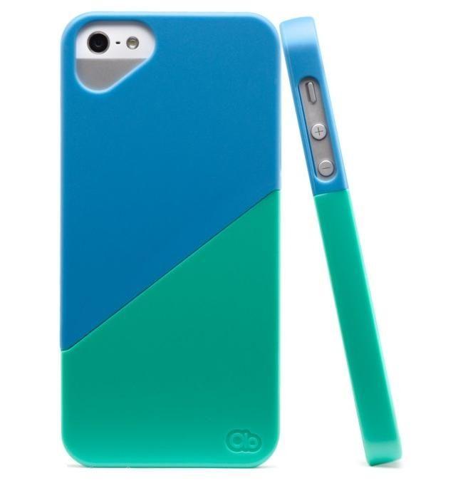 Olo Duet Snap On Case за iPhone 5 -  синьо и зелено - 1
