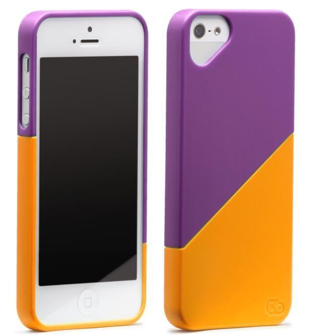 Olo Duet Snap On Case за iPhone 5 -  лилаво и оранжево - 2