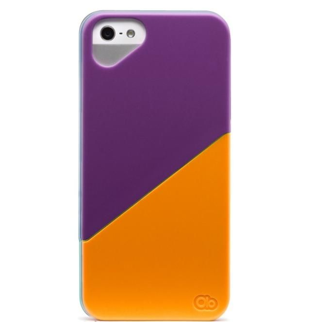 Olo Duet Snap On Case за iPhone 5 -  лилаво и оранжево - 1
