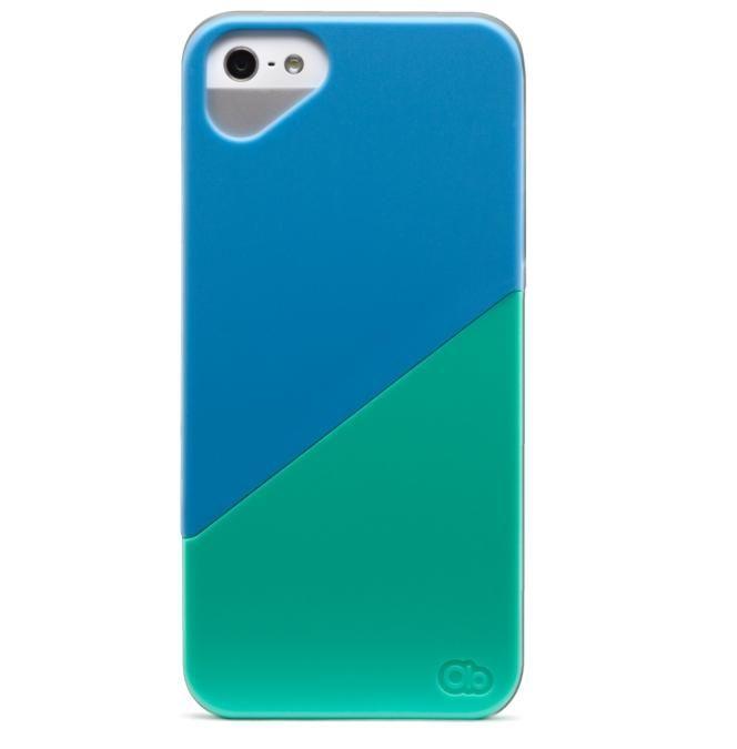 Olo Duet Snap On Case за iPhone 5 -  синьо и зелено - 4