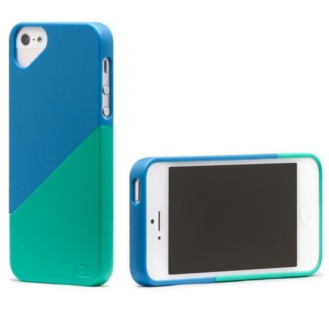Olo Duet Snap On Case за iPhone 5 -  синьо и зелено - 2