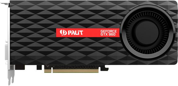 Видеокарта PALIT Nvidia GeForce GTX 960 OverClocked (2GB GDDR5) - 2