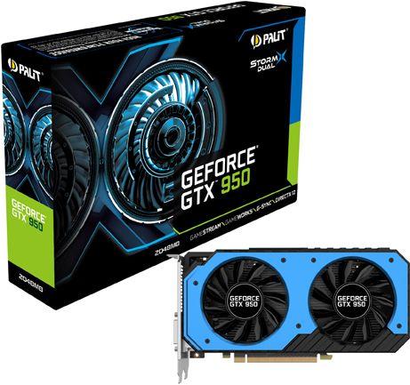 Видеокарта PALIT Nvidia GeForce GTX 950 StormX Dual (2GB GDDR5) - 1