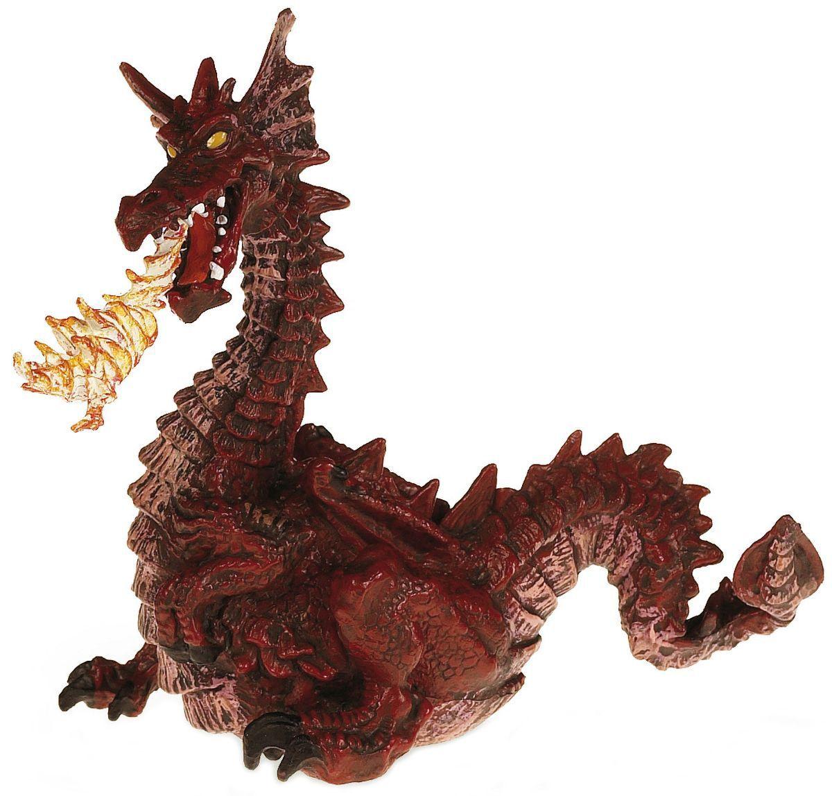 Фигурка Papo The Enchanted World – Огнедишащ дракон, червен - 1