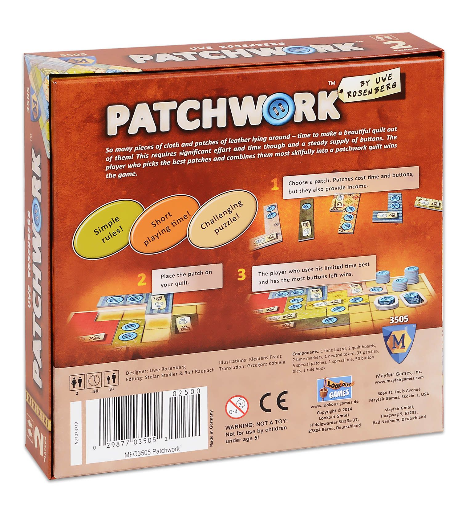 Настолна игра Patchwork - 2