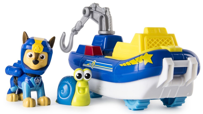 Комплект Spin Master Paw Patrol - Sea Patrol, Чейс с лодка и охлюв - 1