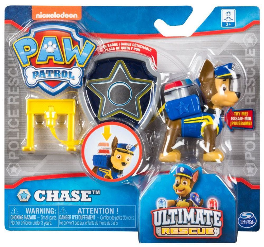 Фигура със значка Spin Master Paw Patrol - Ultimate Rescue, Чейс - 3