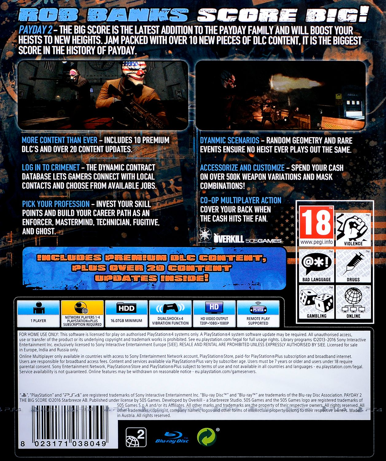 Payday 2 The Big Score (PS4) - 4
