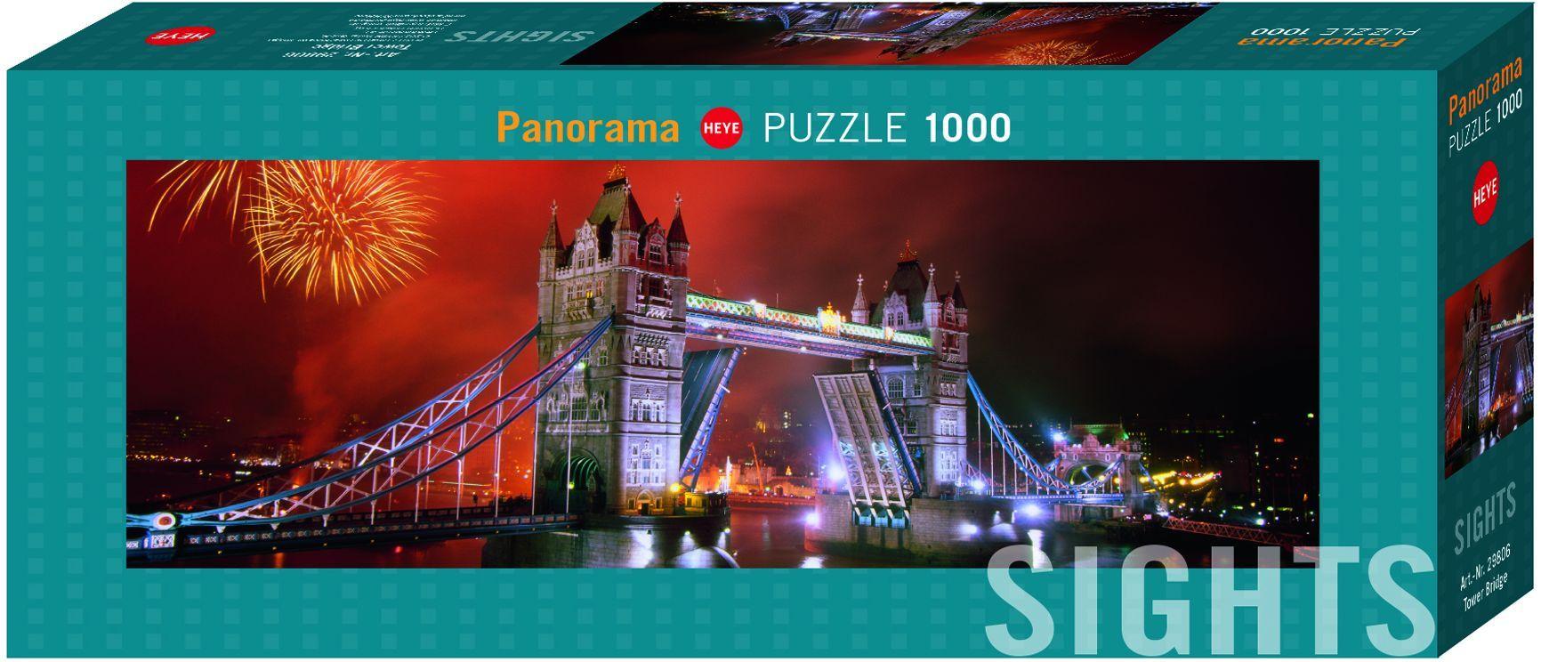Панорамен пъзел Heye от 1000 части - Тауър Бридж - 1