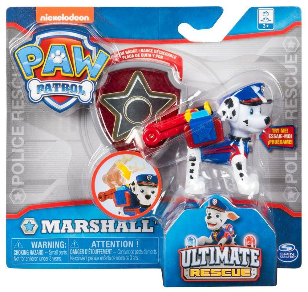 Фигура със значка Spin Master Paw Patrol - Ultimate Rescue, Маршал - 3
