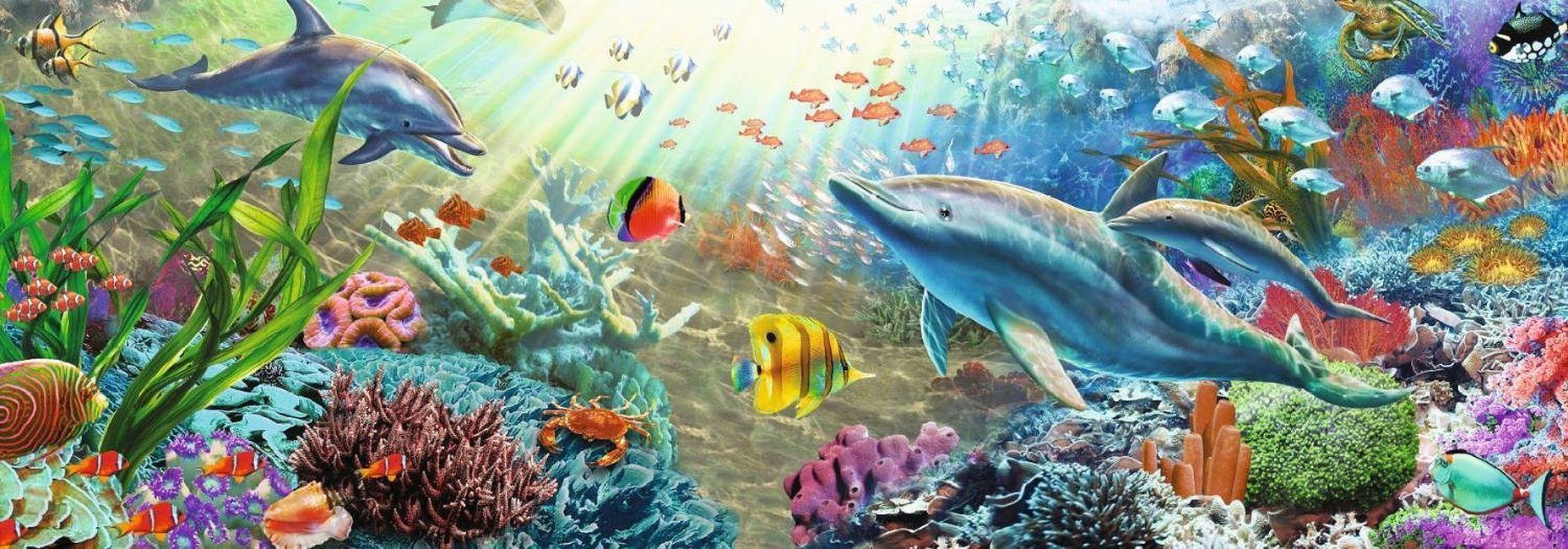 Панорамен пъзел Jumbo от 1000 части - Воден рай - 2