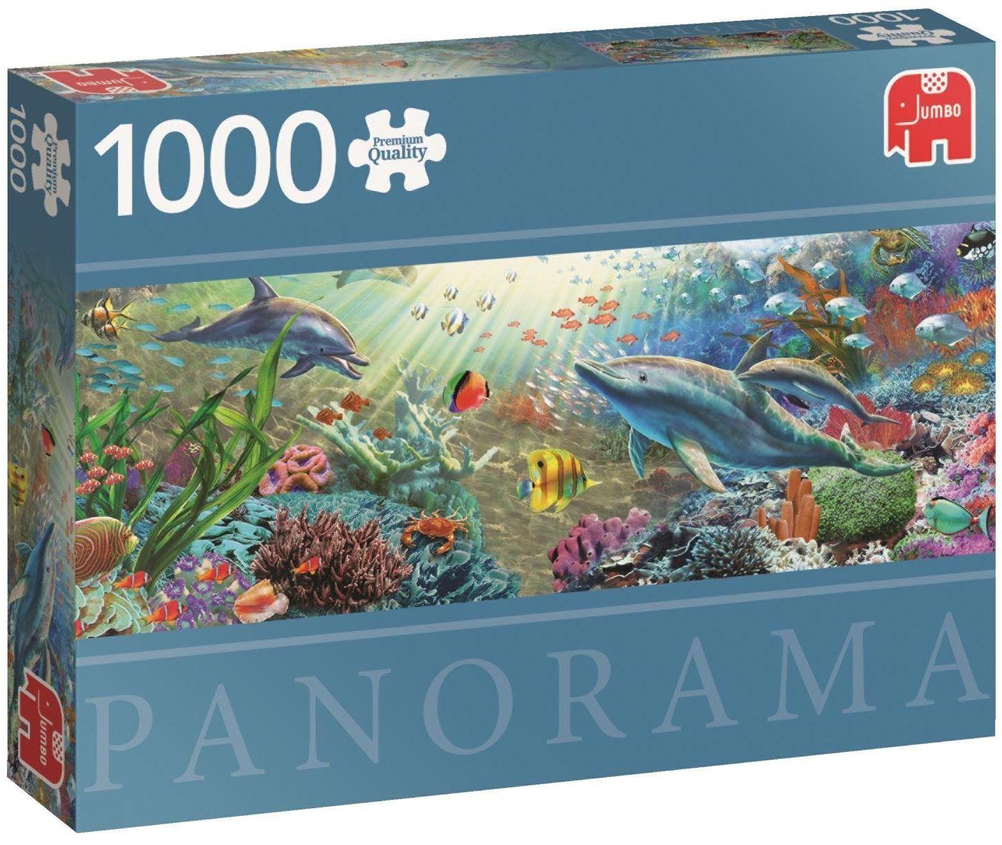 Панорамен пъзел Jumbo от 1000 части - Воден рай - 1