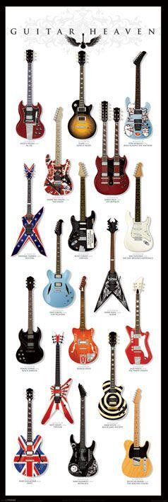 Плакат за врата Pyramid - Guitar Heaven - 1
