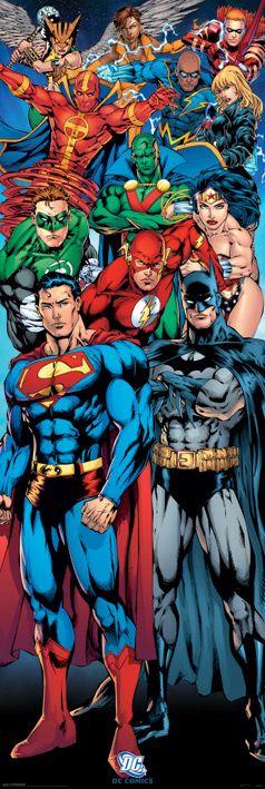 Плакат за врата Pyramid - DC Comics (Justice League of America) - 1