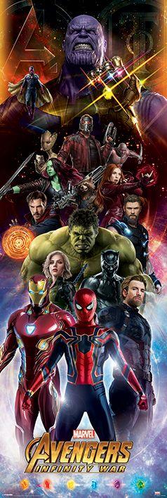 Плакат за врата Pyramid - Avengers: Infinity War (Characters) - 1