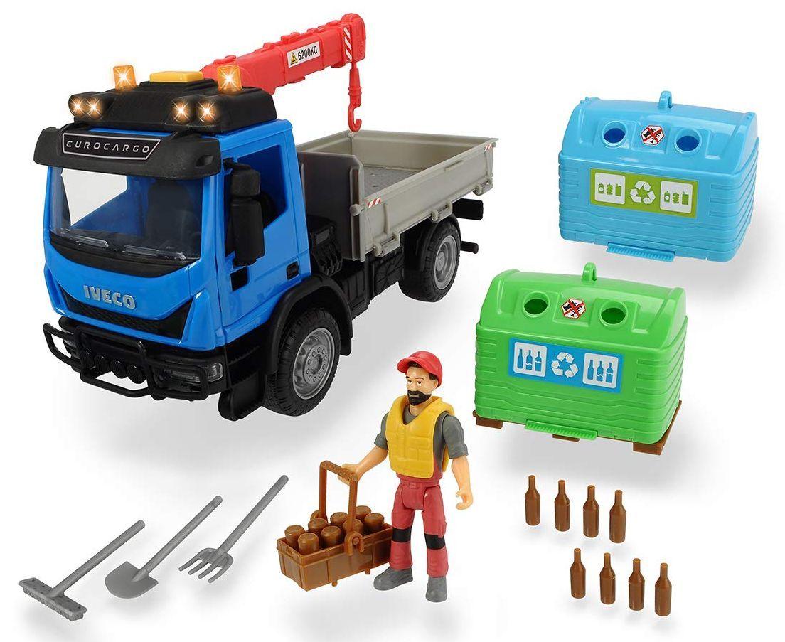 Детска играчка Dickie Toys Playlife - Камион с кран и контейнери - 1
