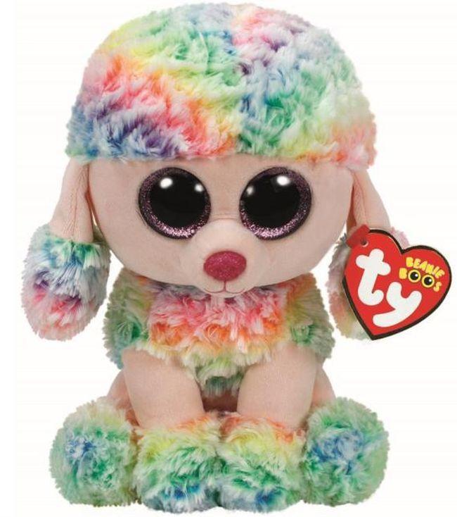 Плюшена играчка TY Toys Beanie Boos - Пудел Rainbow, шарен, 24 cm - 1