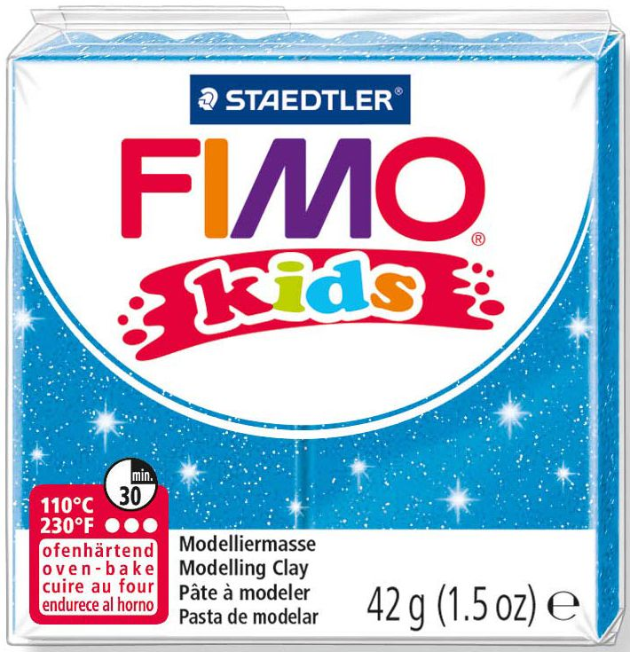 Полимерна глина Staedtler Fimo Kids - блестящ син цвят - 1