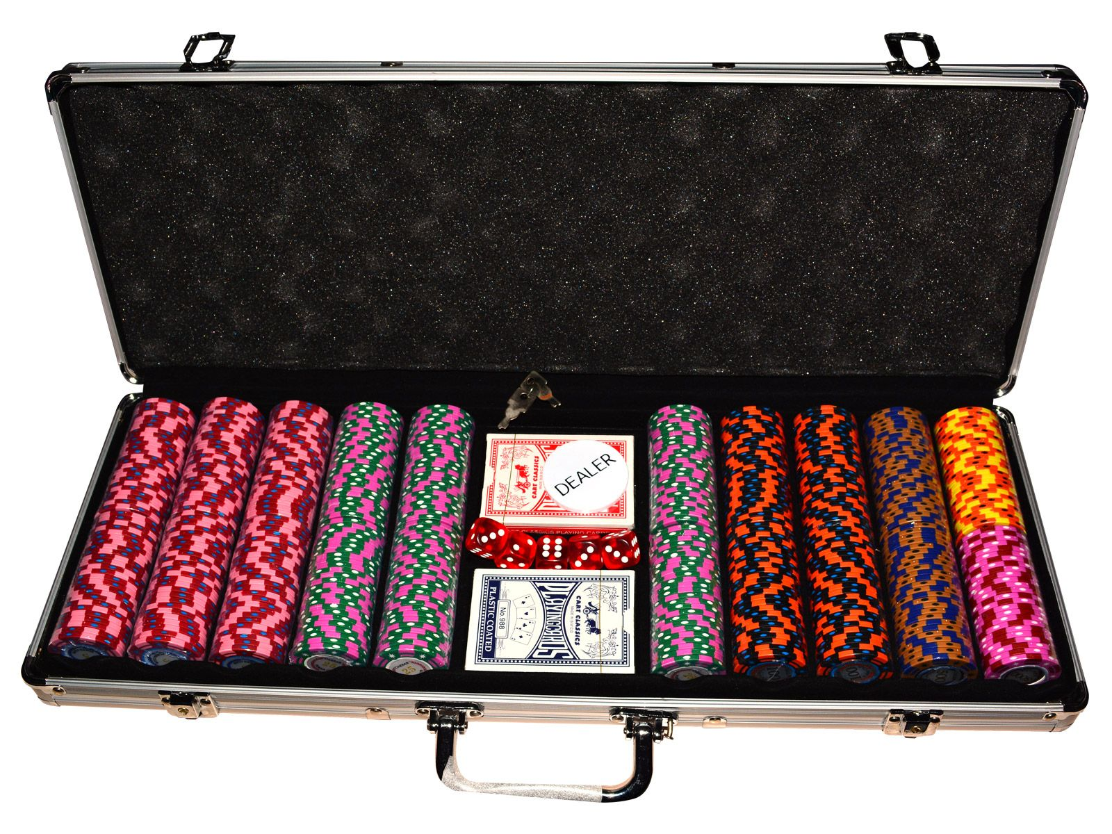 Алуминиево куфарче с 500 Caeser Preimum покер чипа - 1