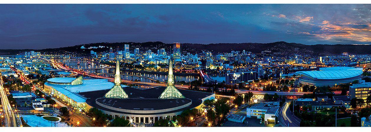 Панорамен пъзел Master Pieces от 1000 части - Портланд, Орегон - 2