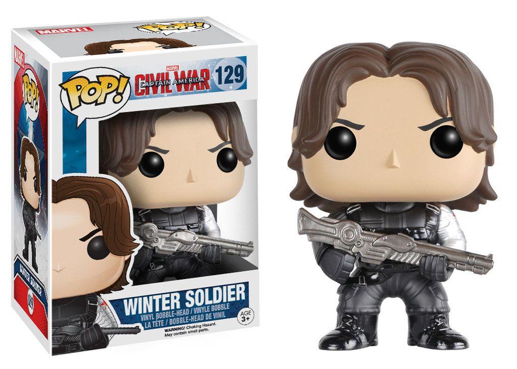 Фигура Funko Pop! Marvel: Captain America Civil War - Winter Soldier, #129 - 2