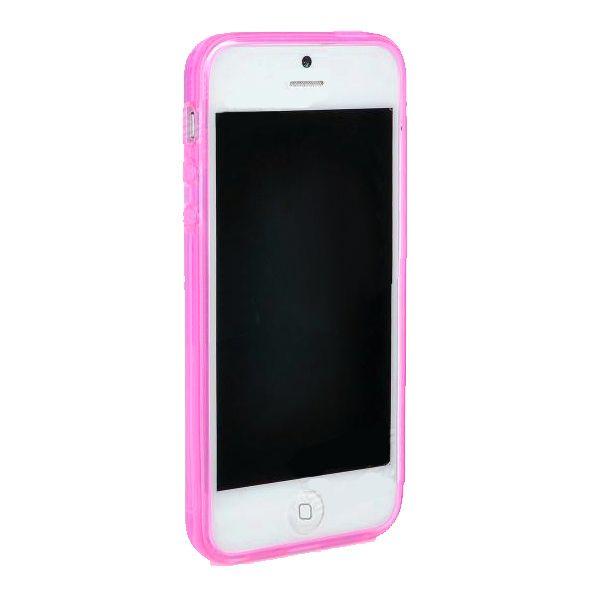 Protective Translucent TPU Case за iPhone 5 -  розов-прозрачен - 5